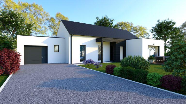 Plan Maison 100m2 Avec Etage Nantes 44 Mf Construction