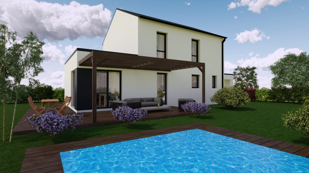 Maison neuve Loire Atlantique 141 000€ contemporaine - MF-Construction