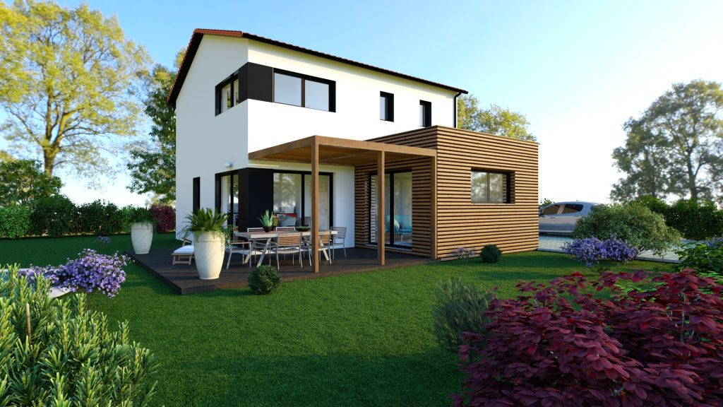 Maison neuve Loire Atlantique 166000€ contemporaine - MF-Construction