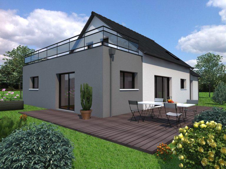 Plan Maison 150m2 Avec Etage Nantes 44 Mf Construction