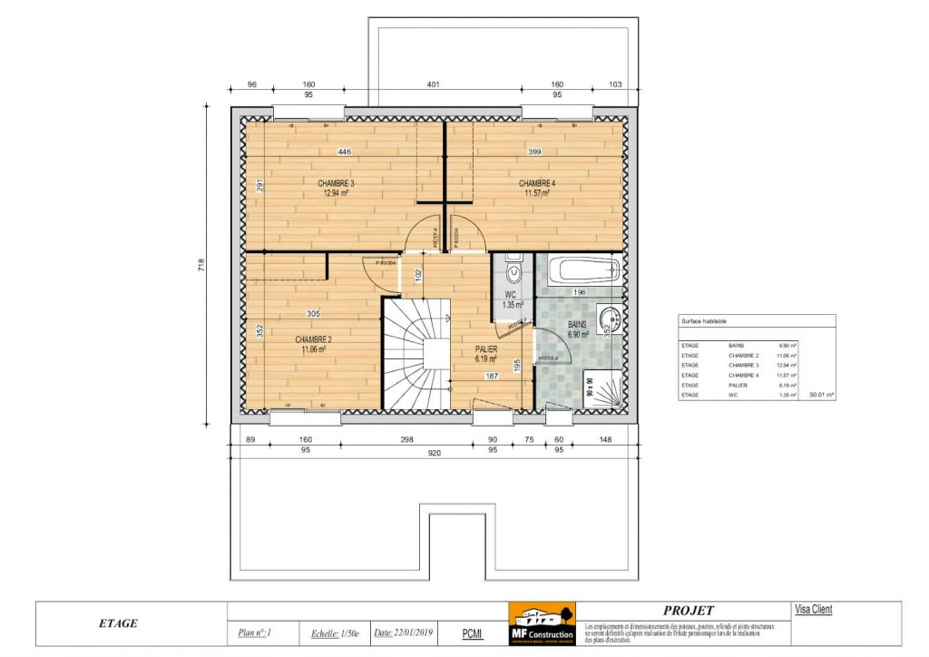 Plan Maison 120m2 Sur-Mesure - MF-Construction