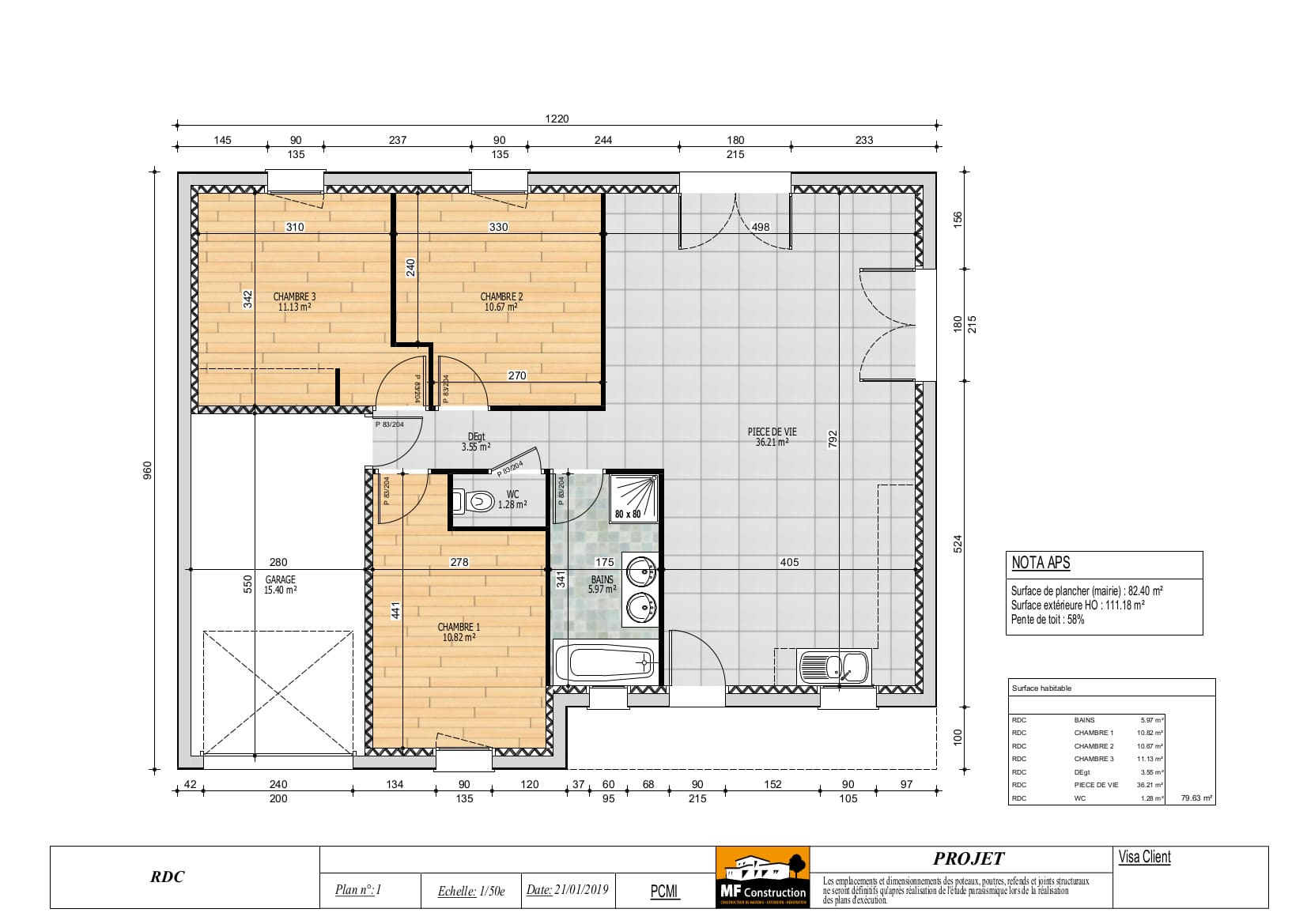 Plan Maison 80m2 Plain Pied Nantes 44 Mf Construction