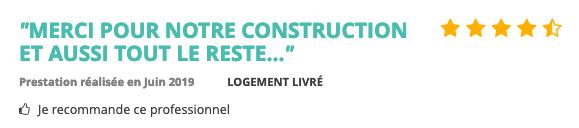avis clients mf construction